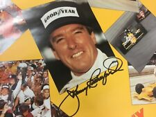 Indianapolis Indy 500 LEGEND OF INDY Series JOHNNY RUTHERFORD HAND SIGNED Poster