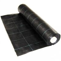50M x 1M Weed Control Fabric Membrane Ground Sheet Garden Heavy Duty Landscape