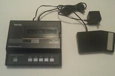 Olympus Optical Pearlcorder Microcassette Transcriber T1010 w/ foot Pedal & PS