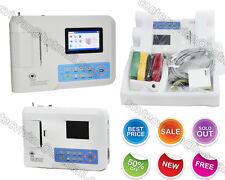 CE FDA Digital 3-channel 12-lead Color ECG/EKG machine electrocardiograph+USB+SW