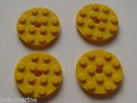 Lego plates jaunes rondes set 8037 3495 4999 7633 / 4 yellow round plates 4 x 4