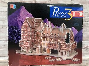 PUZZ 3D Puzz3D Bavarian Mansion 418pc MB Jigsaw Puzzle Complete Free Postage GC