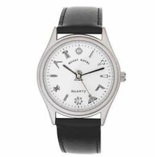 More details for masonic wrist watch, anodised, white dial black strap – lr085