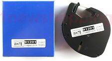 2PK Compatible Dymo WHITE Plastic LetraTag LT-100 Label Tapes 91331 91201 91221