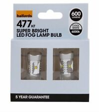 Halfords H7 477 LED Car Front Fog Lights Upgrade Bulbs Lamps White 600 lumens