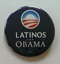 Barack Obama Official Campaign Latino Button / Pin