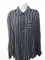 Westport Women's Blouse Plus 1X Long Sleeve Button Down Shirt