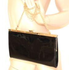 BOLSA mujer pochette negro oro elegante bolso eco cuero ceremonia bag сумка 12N