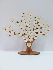 Albero della Vita guestbook matrimonio cuori legno incisioni nomi sposi