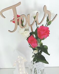Wooden Table Numbers - Table Numbers on Sticks - Wedding Table Numbers