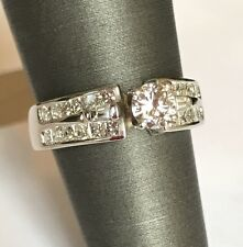 18k Solid White Gold And 1.25 Carat VS Diamond Ring