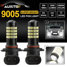 2X Super White 6000K 102 SMD 9005 HB3 LED Fog Light Daytime Running Light 2800LM