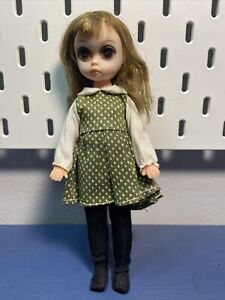 Vintage Susie Sad-Eyes with Green Dress & Black Tights