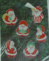 Santa Ornaments Counted Cross Stitch Kit Makes 6 Ornaments Laura Doyle Designs