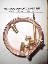 Universeel thermokoppel 120 cm. lang  voor gaskachel, oven, CV ketel en geiser