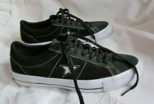 CONVERSE With LUNARLON Black/Green Leather Lace Up Sneakers Sz 8.5 Men/ 10.5 Wom