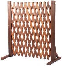"2 x Wooden Expanding Fence Barrier Gate Garden Fencing Decor 20""-63"" Width 27""H"