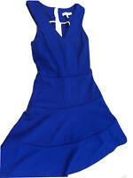 Banana Republic Womens Size 2 Royal Blue Sleeveless Cocktail Dress EUC