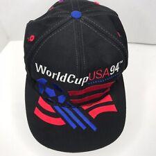 adidas 1994 World Cup USA Soccer 94 Baseball Cap Snapback Hat Black Men OSFA