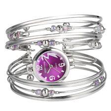 Women Fashion Bracelet Watch Rhinestone Quartz Analog Wristwatch Bangle