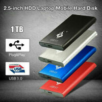 2.5'' External 2TB Ultra Slim Hard Disk Drive USB 2.0 Transfer HDD Data Por A7K7