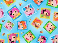 Quilting Treasures Cute As A Button by Lalaloopsy 23674 B Blue Tossed Cotton Fab