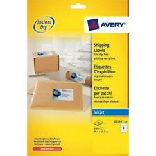 Avery J8165-25 Self-Adhesive Parcel/Shipping Labels, 8 Labels Per A4 Sheet