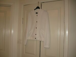 Ladies Jacket  Design M & S Collection  Size 12 Long Sleeves Cream Polyester