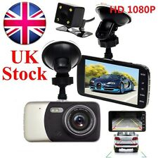"4"" Dual Lens Camera HD 1080P 170° Car DVR Video Dash Cam Front Rear Recorder IPS"