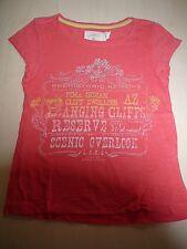 H & M tolles T-Shirt Gr. 110 / 116 orange mit tollem Druckmotiv !!
