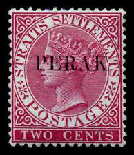 Malaya, Perak. 1883. 2c. Rose. SC# 7. SG 19. Type 16. MNH. 'PERKΛK'