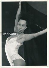 "Vintage photo 7x5"" - androgynous woman posing in lingerie bodysuit"