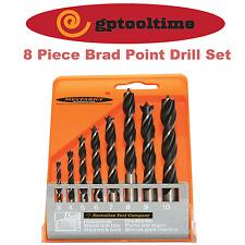 DRILL SET 8 Piece Brad Point Drill Set
