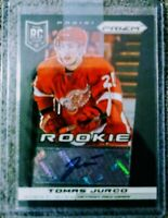 TOMAS JURCO  RC Auto  2013/14 Panini Prizm Rookie card #342 Detroit Red Wings.