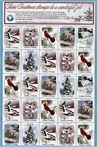 Canadian Wildlife Federation Seals.  1983.  Full sheet of 25. NMNH