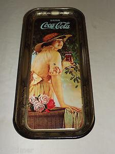 VINTAGE COKE SODA AD 1972 DRINK COCA COLA METAL SERVING TRAY