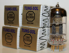 Tung Sol ECC803S/12AX7 Gold Pin tubes,Reissue,NEW, Matched Quad