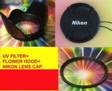 FLOWER HOOD+UV FILTER+CAP to> AF-S DX NIKKOR 35mm f/1.8G Lens, 52mm 18-55 55-200