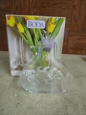 "Kosta Boda Etched Clear Glass Vase 4 1/2"""