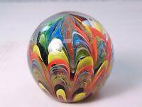 M Design Art Glass Rich Colored Rainbow Tie-dye Paperweight PW-662 [Kitchen]