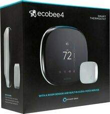 Ecobee 4 Alexa Enabled Smart Thermostat with Sensor - White FREE 2 Day Shipping