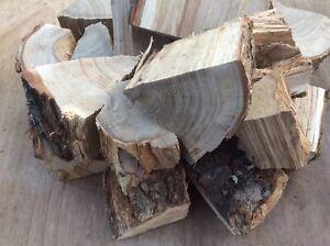 Large box of oak BBQ smoker wood chunks kiln dried
