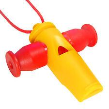 KEEPDRUM samba-pipa con 3 tonhöhen tri-tone whistle apito amarillo-rojo