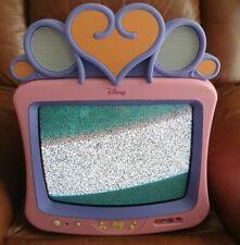 "Pink Disney Princess 13"" CRT Cube TV Screen Retro Gaming Rare Girls Scart RGB"