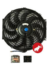 "New 12""inch Electric Universal Cooling Radiator Fan Curved S-Blade + Relay"