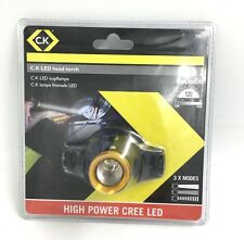 C.K Tools Led Head Torch Light Lamp 120 Lumens Features 3 Modes Headtorch T9610