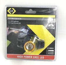C.K Tools LED Lampada Torcia Da Testa Luce 120 LUMEN dispone di 3 modalità Headtorch T9610