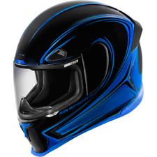 Icon Airframe Pro Halo Full Face Street Motorcycle Helmet Blue Black Large