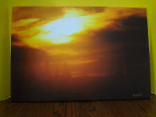 "Gichee Canvas Painting ""Ice Fog Sunset"" by Darilyn Ronn Originally $225 15 x 22"