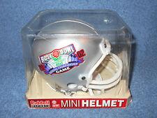 """RIDDELL 2002 ROSE BOWL NATIONAL CHAMPIONSHIP 6 1/2"""" MINI FOOTBALL HELMET IN CASE"""